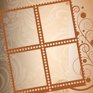 stylish photo frame design vector
