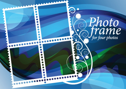 stylish photo frame design vector