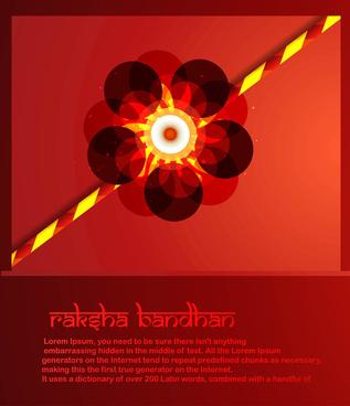 stylish raksha bandhan colorful rakhi background vector