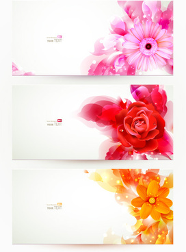 stylish shiny flower art banner vector