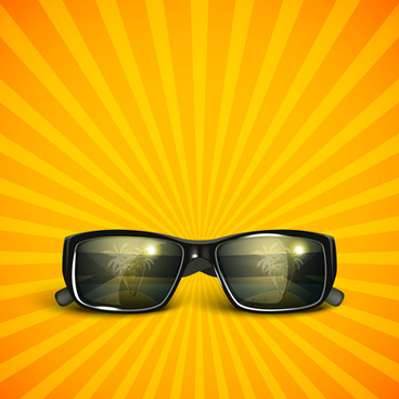 stylish sunglasses vector