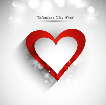 stylish valentine day card element vector