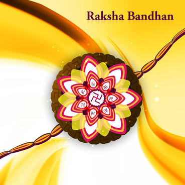 stylish wave raksha bandhan hindu festival colorful design