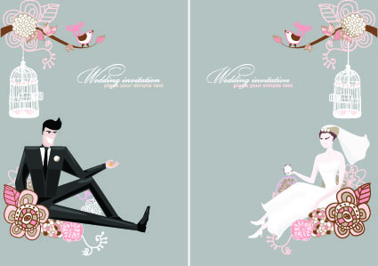 Wedding card vector free vector download 13280 Free vector for