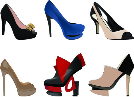 stylish women shoes free vector