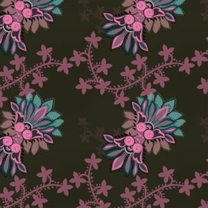 Stylized floral ornament pattern