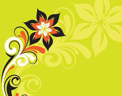 stylized plant vector graphic