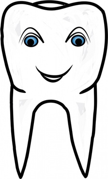 stylized smiling healthy tooth