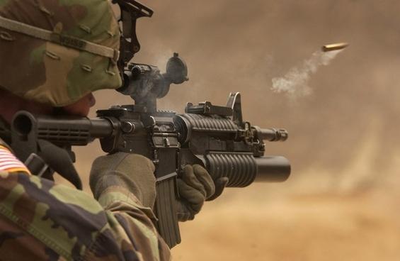 submachine gun rifle automatic weapon