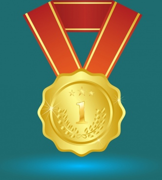 success concept design gold medal decoration closeup style