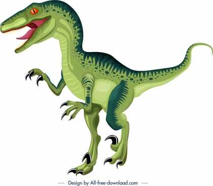suchominus dinosaur icon green design cartoon character sketch