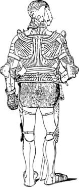 Suit Of Armor Back clip art