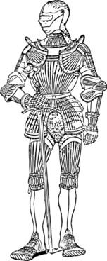 Suit Of Armor Front clip art