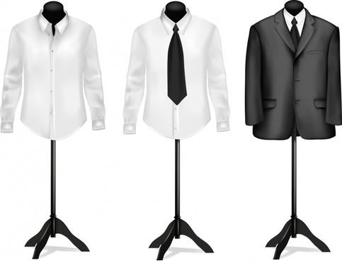suit shirt tie suit vector