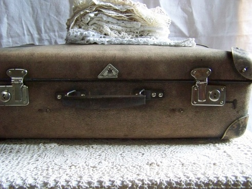 suitcase lace old