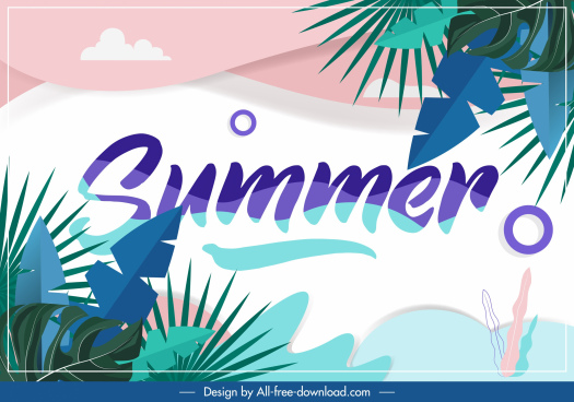 summer background colorful leaves decor classical design