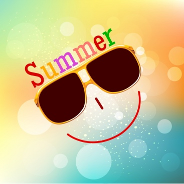 summer background smile face icon bokeh backdrop