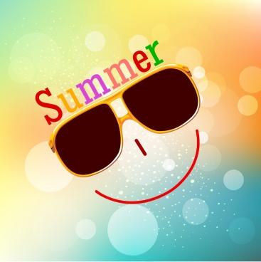 summer background smile face icon bokeh backdrop