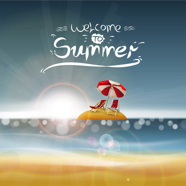 summer backgrounds with light vector dot