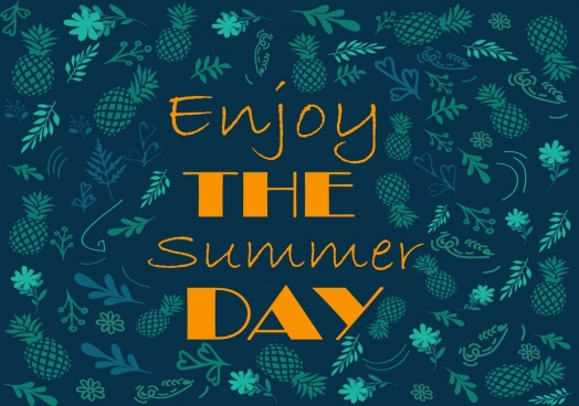 summer banner dark green pineapple background repeating decoration