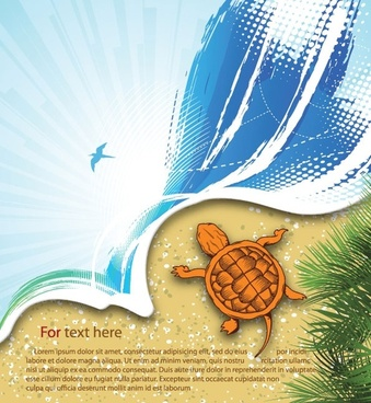 summer beach background 03 vector