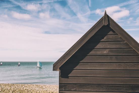 summer beach hut