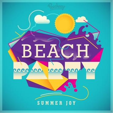 beach party poster free vector download 6 946 free vector for