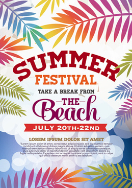 summer beach party vintage poster vectors