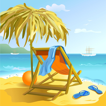 summer beach travel backgrounds vector