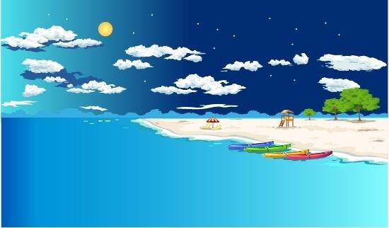 summer beach vector