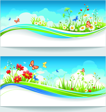 summer blue sky backgrounds vector
