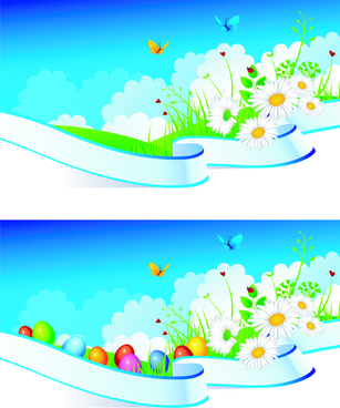 summer blue sky banner