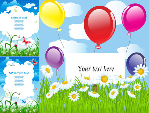summer card background vector graphic