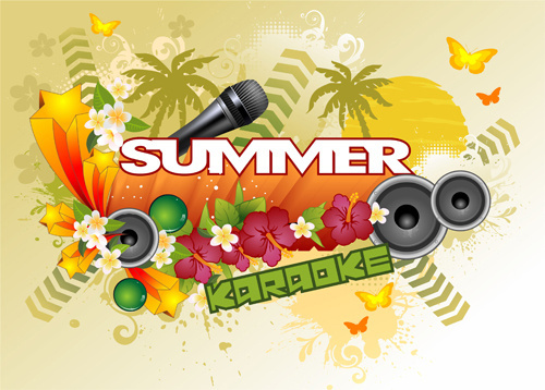 summer concerts art background vector