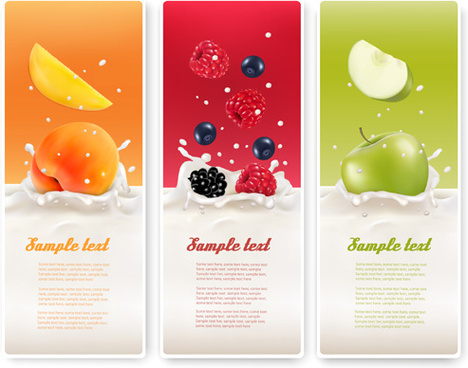 summer drinks advertising banner vector