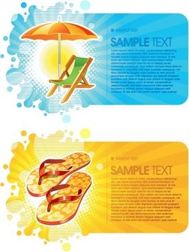 summer fashion card background vector