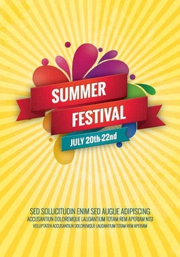 Summer Festival Vector Graphic