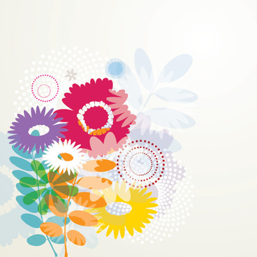 summer flowers vector graphic