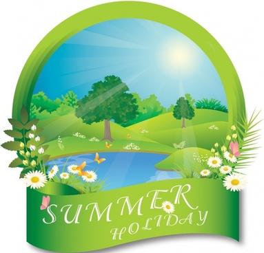Summer frame landscape