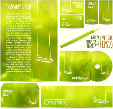 summer green company kit vector