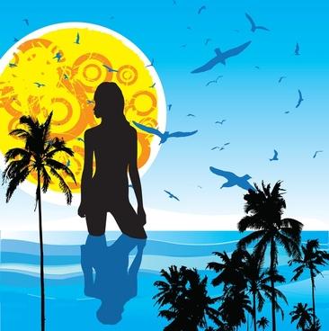 summer heat vector