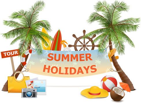 summer holiday advertising banner vector