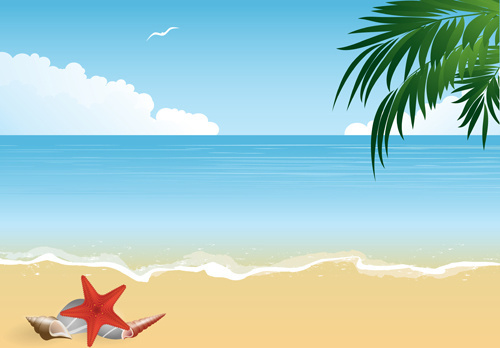 vector free summer holiday beach free vector download