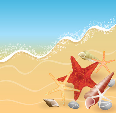 summer holiday beach creative background vecor