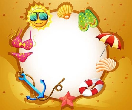 Vector summer holiday frame free vector download (11,761 Free vector ...