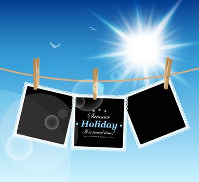 summer holiday design elements vector set