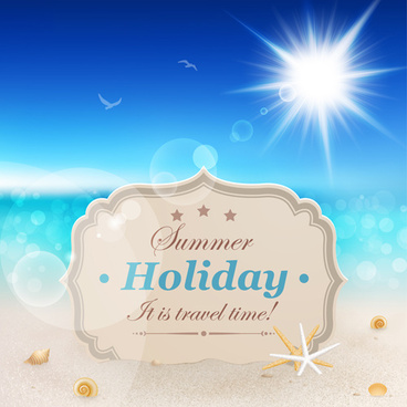 summer holiday design elements vector set