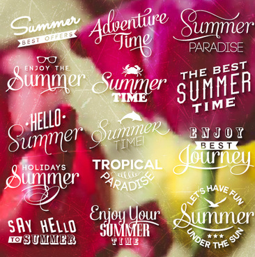 summer holiday logos with labels vector