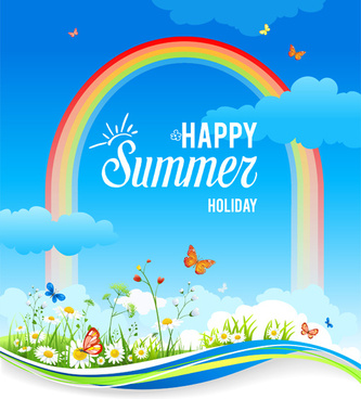 summer holiday natural background art
