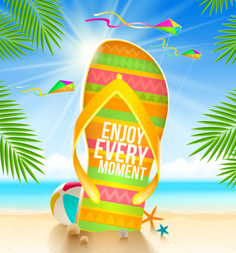 summer holidays seaside travel background